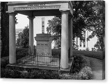 Canvas Print featuring the photograph President James K Polk Tomb by Robert Hebert