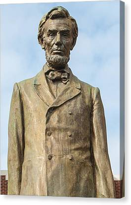 President Lincoln Statue Canvas Print by Tikvah's Hope
