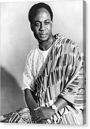 President Nkrumah Of Ghana. Canvas Print by Underwood Archives