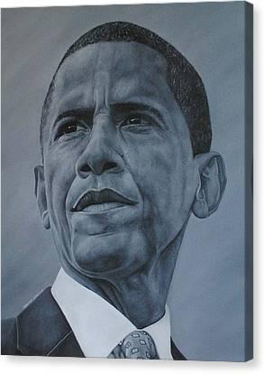 President Obama Canvas Print by David Dunne