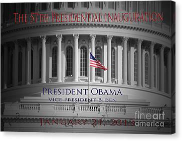 President Obama Inauguration Canvas Print by Jost Houk