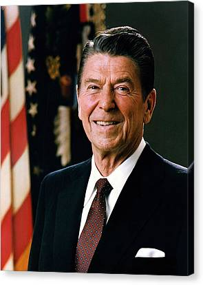 President Ronald Reagan Canvas Print by Mountain Dreams