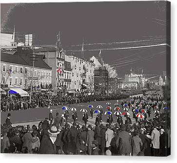 President William Mckinley's Second Inaugural Parade Pennsylvania Avenue Washington D.c. March  1901 Canvas Print by David Lee Guss