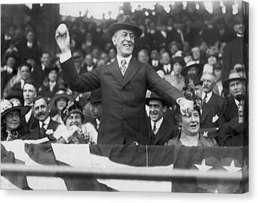 President Wilson Opens Season Canvas Print by Underwood Archives