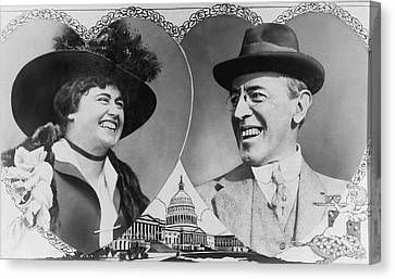 President Wilson To Wed Canvas Print by Underwood Archives