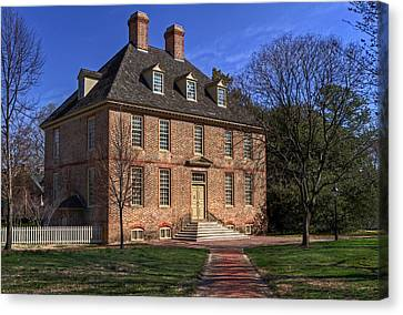Canvas Print featuring the photograph President's House College Of William And Mary by Jerry Gammon