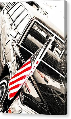 Canvas Print featuring the photograph Presidents Limo - Mike Hope by Michael Hope