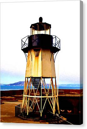 Presidio Lighthouse Canvas Print by Sharon Costa