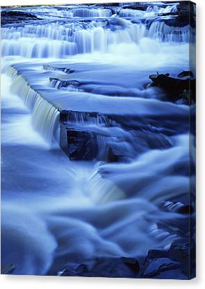 Presque Isle Falls Canvas Print by Ray Mathis
