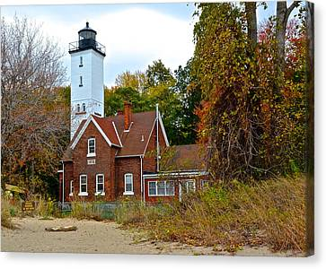 Presque Isle Lighthouse Canvas Print by Frozen in Time Fine Art Photography