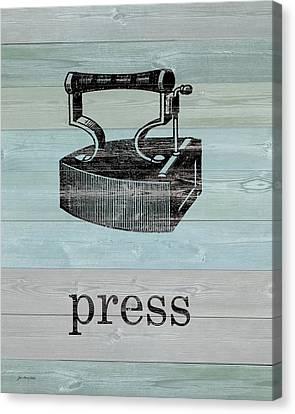 Press On Wood Canvas Print by Jo Moulton