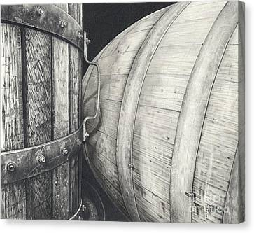 Press To Barrel Canvas Print by Mark Treick
