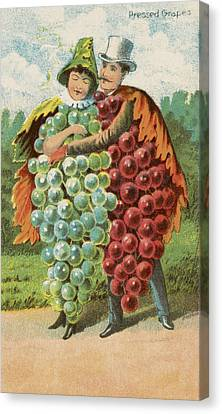 Pressed Grapes Canvas Print by Aged Pixel