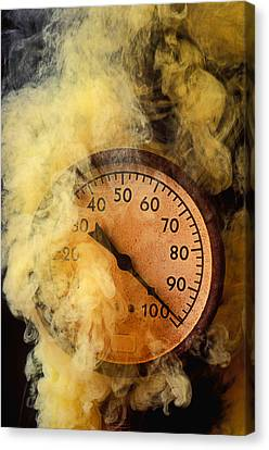 Pressure Gauge With Smoke Canvas Print