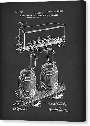 Pressure System For Beer 1900 Patent Art Black Canvas Print