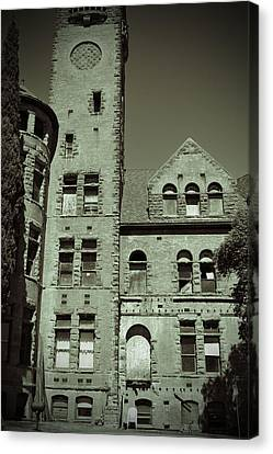 Preston Castle Tower Canvas Print by Holly Blunkall