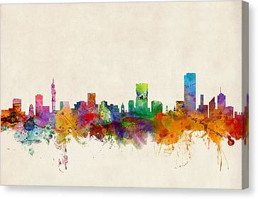 South Africa Canvas Print - Pretoria South Africa Skyline by Michael Tompsett