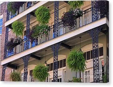 Pretty Balcony Canvas Print by Carol Groenen