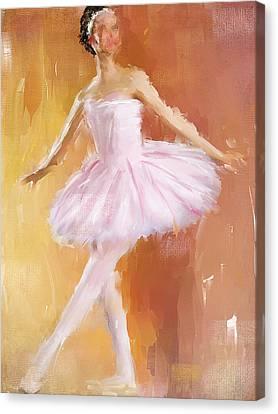 Pretty Ballerina Canvas Print by Lourry Legarde