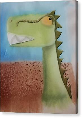 Dinoart Raptor Canvas Print by Joshua Maddison