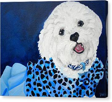 Debi Pople Canvas Print - Pretty In Blue by Debi Starr