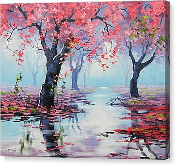 Salmon Canvas Print - Pretty In Pink by Graham Gercken