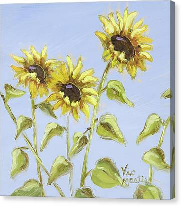 Canvas Print featuring the painting Pretty In Yellow by Vic  Mastis