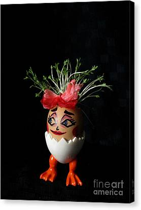 Pretty Lady Easter Eggmen Series  Canvas Print