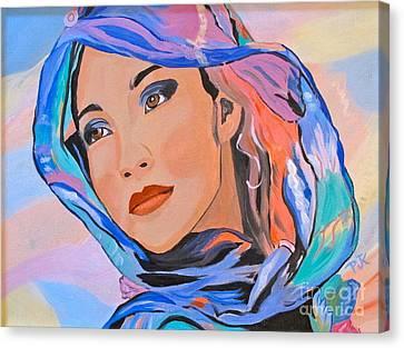 Pretty Lady Canvas Print by Phyllis Kaltenbach