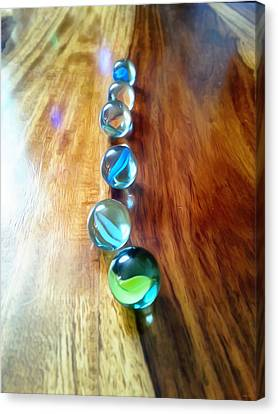 Pretty Marbles All In A Row Canvas Print