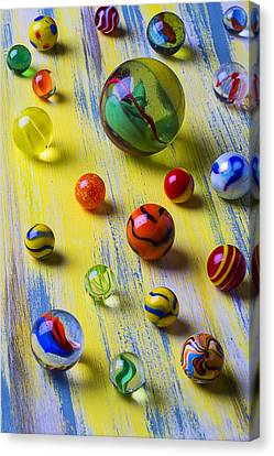 Sphere Canvas Print - Pretty Marbles by Garry Gay
