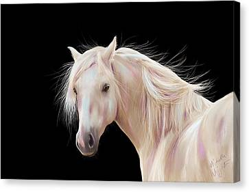 Pretty Palomino Pony Painting Canvas Print by Michelle Wrighton