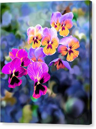 Pretty Pansies 3 Canvas Print