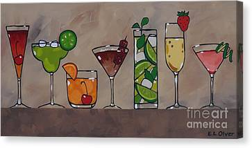 Pretty Party Drinks Canvas Print by Elisabeth Olver