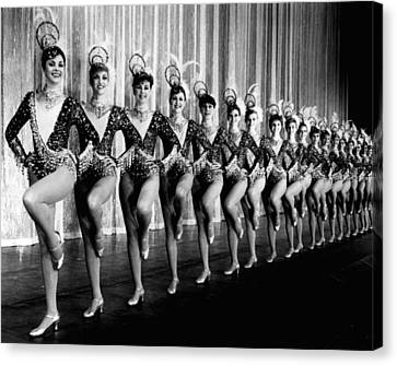 Pretty Rockettes In Dance Line At Radio City Music Hall Canvas Print by Retro Images Archive