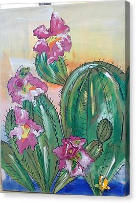 Prickly Pear Canvas Print by Karen Carnow