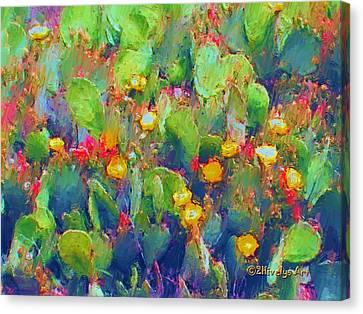 Prickly Pear Painting Canvas Print