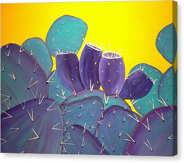 Prickly Pear With Fruit Canvas Print