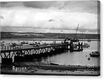 Priddy's Hard Jetty Canvas Print by Terri Waters
