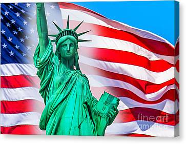 Pride Of America Canvas Print by Az Jackson