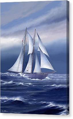 Bluenose Canvas Print - Pride Of Nova Scotia by Captain Bud Robinson