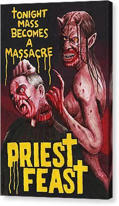 Priest Feast Canvas Print by David Shumate
