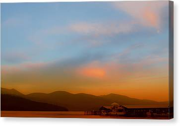 Priest Lake At Dusk Canvas Print by David Patterson