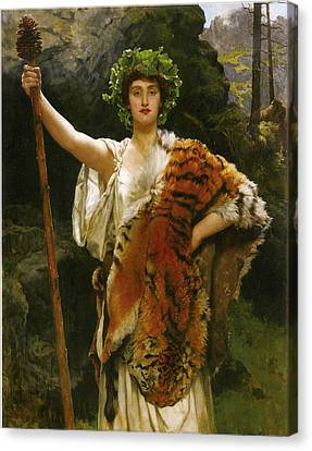 Priestess Bacchus Canvas Print by John Collier