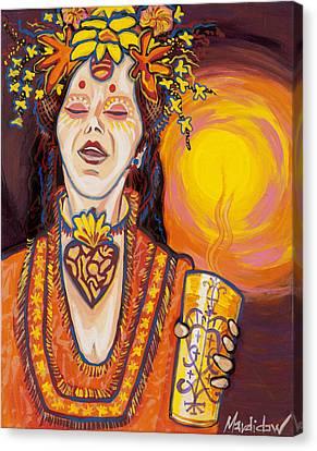 Priestess Canvas Print by Mardi Claw