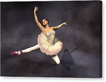 Prima Ballerina Heaven Jete Leap Pose Canvas Print by Andre Price