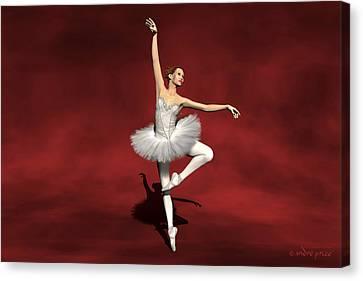 Prima Ballerina Kiko Pirouettes Pose Canvas Print by Andre Price