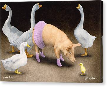 Geese Canvas Print - Prima Donna... by Will Bullas
