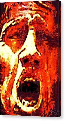 Primal Canvas Print by Larry E Lamb