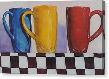 Primarily Coffee Canvas Print